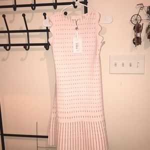 Ted Baker London Flippy Metallic Jacquard Dress